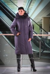 Зимнее пальто 52-54 размер темно-серый Наличие