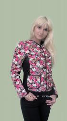 Модный пиджак стежка цветной 44 размер