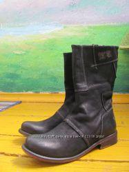 Чёрные кожаные байкерские ботинки Yellow Cab, р. 36, 5-37
