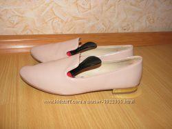 Zara балетки кожзам цвет пудра 36 р по вст 23. 5 см