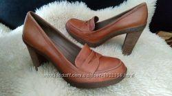 Ecco туфли кожа 41 р по ст 27 см каблуки 10 см