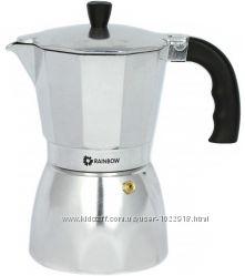 Современная кофеварка Maestro MR-1667-9 на 9 чашек гейзерная Ranbow