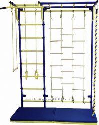 Шведская стенка с рукоходом и гладиаторской сеткой