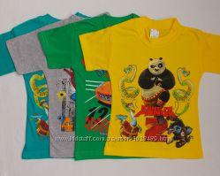 Яркие футболки мальчику 3-7лет Турция
