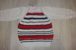 Симпатичный свитерок-полосатик на девочку