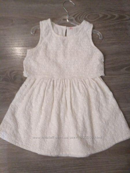 Воздушное хлопковое платье на малышку Y. D. размер 2-3 года