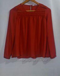 Блуза бренд mango терракотовый цвет