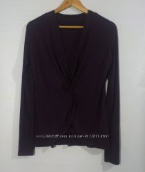 Блуза темно фиолетовая бренд sisley