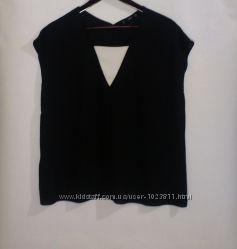 Чёрная блуза бренд mango