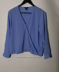Блуза нежно василькового цвета бренд h&m