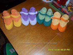Пинетки, сандалики, пинетки-ботиночки крючком