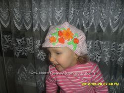 Летняя ажурная кепка для девочки крючком