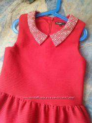 Платье M&S Шикарное Красное девочка 11-12 лет152см