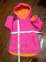 Стеганая деми курточка 2-сторонняя на флисе с длинной спиной на 1, 5-2