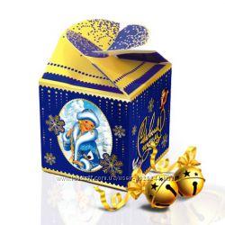 новогодняя упаковка Бантик синий