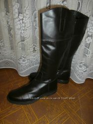 Новые кожаные сапоги большого размера Studio Pollini