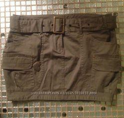 юбка pull&bear размер M не носила дешево в стиле милитари