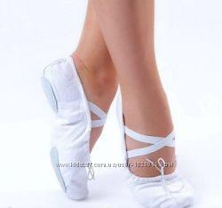 Балетки Чешки Dance&Sport в наличии белые черные персиковые 23 см стелька