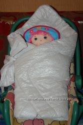 Нарядный конверт для новорождённого в идеальном состоянии