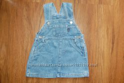 Сарафан светлый джинс рост 74