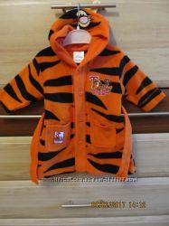 Халат DISNEY флис тигровый с капюшоном унисекс 0-6 мес новое