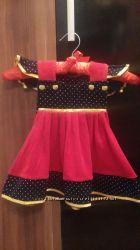 Платье для девочки рост 74-92 состояние нового