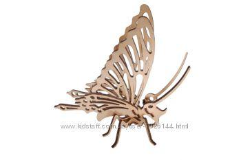 Деревянные 3д пазлы -  бабочка сборная модель