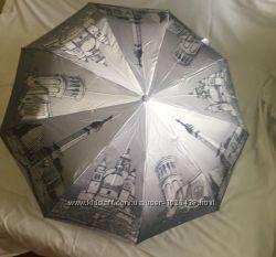 Зонт Pasio автомат в 3 сложения, сатин