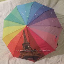 Зонт полуавтомат S. L радуга с принтом