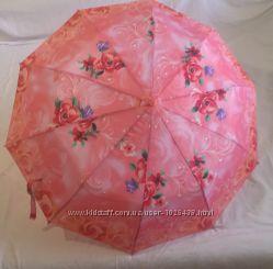 Зонт полуавтомат Feeling rain, цветы