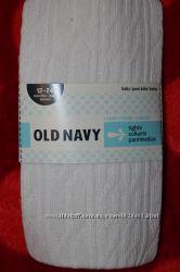 Колготки Old Navy США белые 12-24 мес  Состав 73 хлопок, 25 полиэстер,