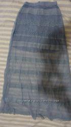 Очень стильная гипюровая юбка