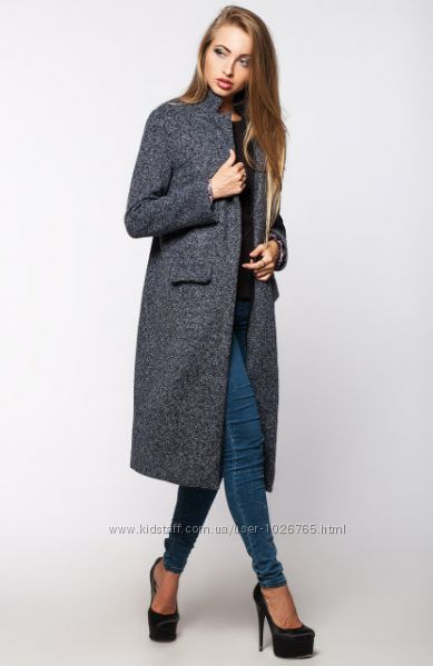 Шерстяное универсальное длинное пальто в стиле миллитари воротник стойка