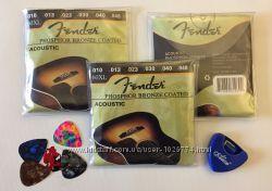 Струны и медиаторы Fender 0. 38 мм  0. 46 мм  0. 58 мм  0. 6 мм  0. 76 мм