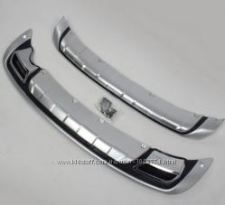 Передняя и задняя накладки Хромпластик Kia Sportage 2010-2015 гг.