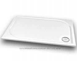 Продам прямоугольный душевой поддон из литого камня Gronix 120х80 см