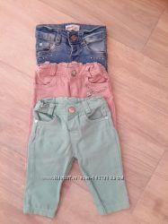 Крутые джинсы на малышку 2-5 мес