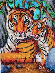 Картина бисер - Тигры