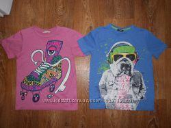 Качественные футболки George, Next, H&M на 9-10лет. 134-140см. Хлопок.