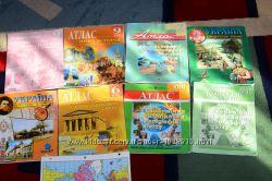 Атласы, контурные карты не дорого