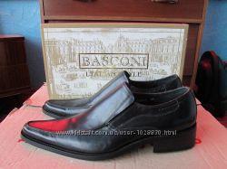 Туфли мужские BASCONI кожаные, новые р. 41