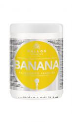 Kallos Банан Укрепляющая маска для волос с комплексом мультивитаминов, 1л
