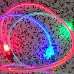 Micro USB дата кабель светящийся LED подсветка