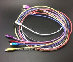 Плетеный micro USB кабель 1м