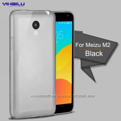 Силиконовый прозрачный чехол для meizu M2 mini