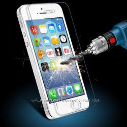 Защитное стекло 9H 2. 5D iPhone 4, 4s, 5, 5S, 5C