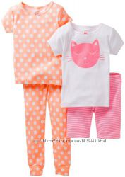 Пижама для девочки 4 в 1 Carters в наличии.