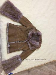 Женская натуральная дизайнерская дубленка, тоскана, размер М