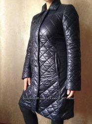 Пальто женское черное размер М весна-осень теплая зима