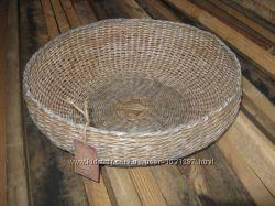 Корзина плетёная круглая